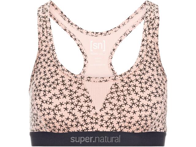 super.natural Semplice 220 Print Sport BH Dames, blush/blush stars